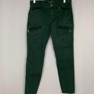 WHBM green skinny cargo pants